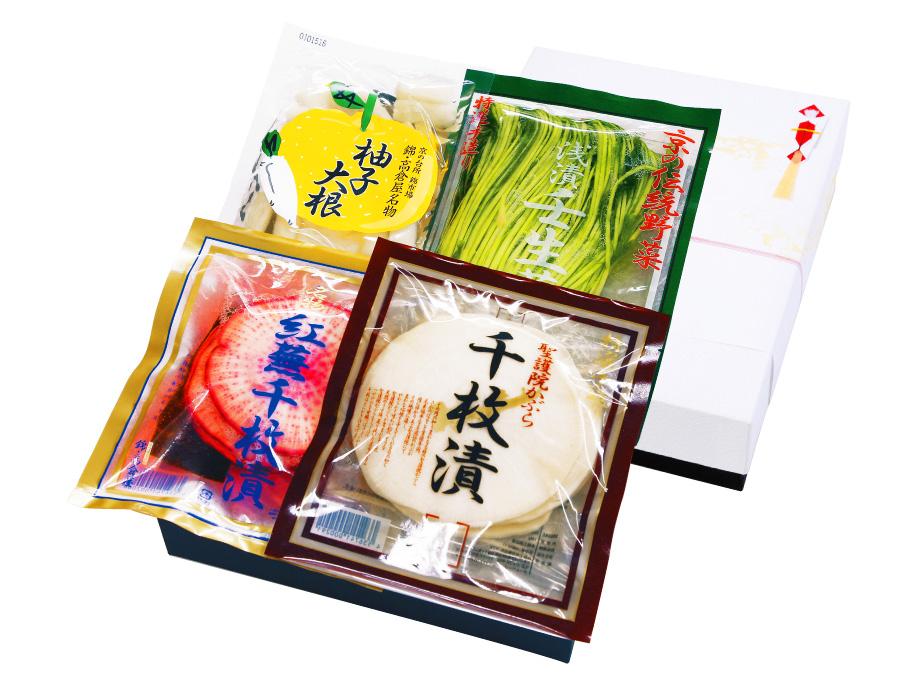 特選・冬の京漬物詰め合わせ【化粧箱包装】3,300円組